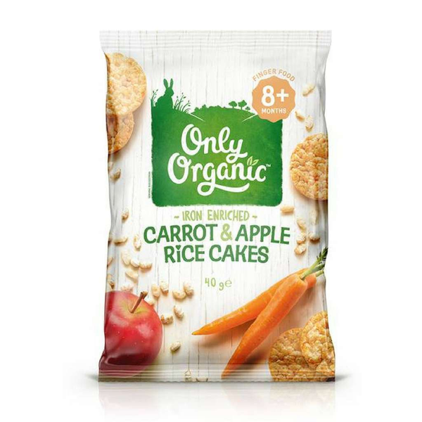 Only Organic - Carrot & Apple Rice Cakes 40g