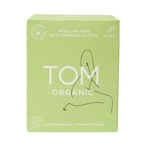 Tom Organic Pads Ultra Thin Day Pads with Wings 10 - GoodnessMe