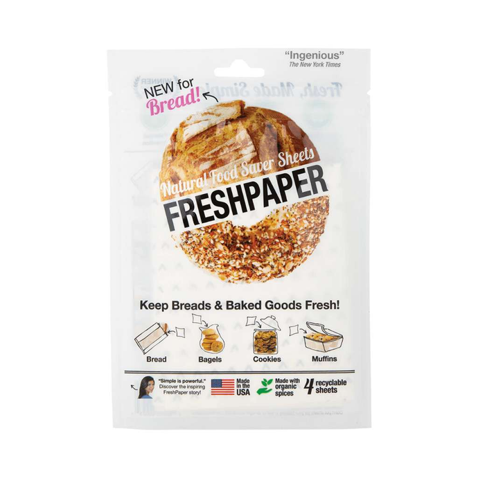 Freshpaper Natural Food Saver Sheets - Bread & Baked Goods 4 pack