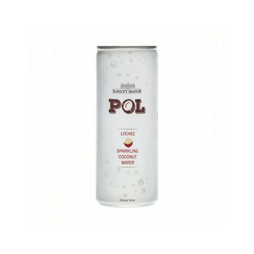 POL Sparkling Sparkling Coconut Water Lychee 12x 250mL - GoodnessMe