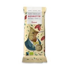 Bennetto Natural Foods co Organic Dark Chocolate Mixed Pack 21 x 30g Bars (Raspberry, Coconut & Coffee)