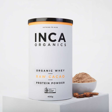 Load image into Gallery viewer, Inca Organics	Certified Organic Whey + Raw Cacao Protein Powder 400g