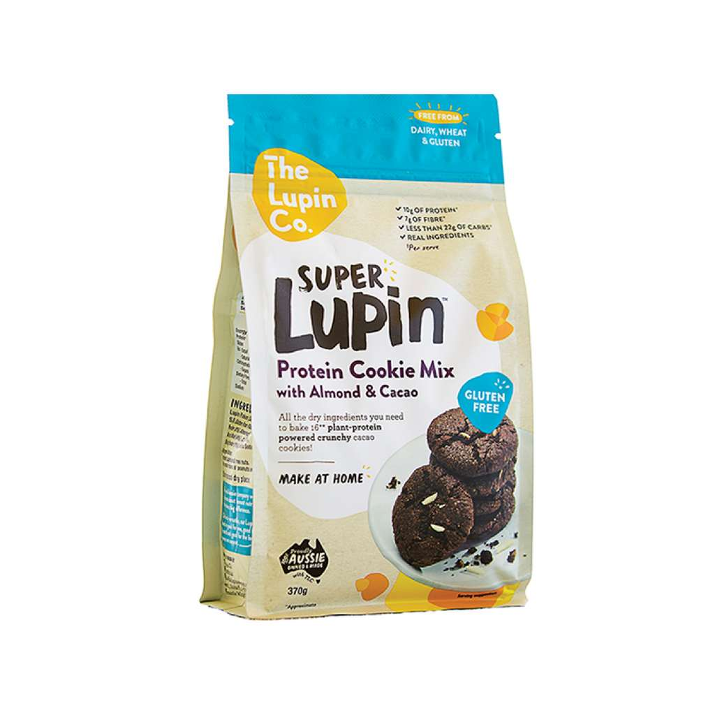 The Lupin Food Co - Super Lupin Protein Cookie Mix With Almond And Cocao 370g