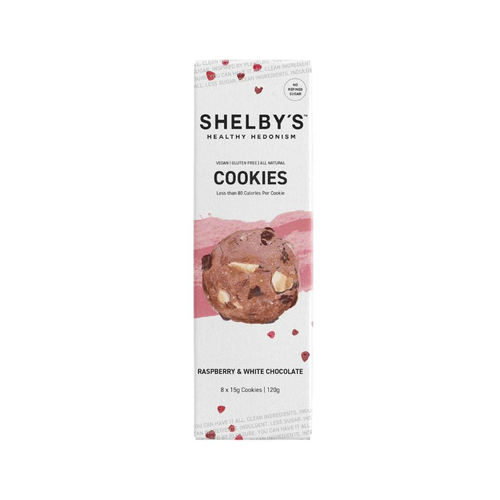 Shelby's Cookies Raspberry & White Chocolate - GoodnessMe