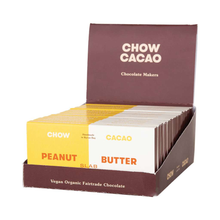 Load image into Gallery viewer, Chow Cacao Vegan Organic Chocolate	Peanut Butter Slab 5x 40g