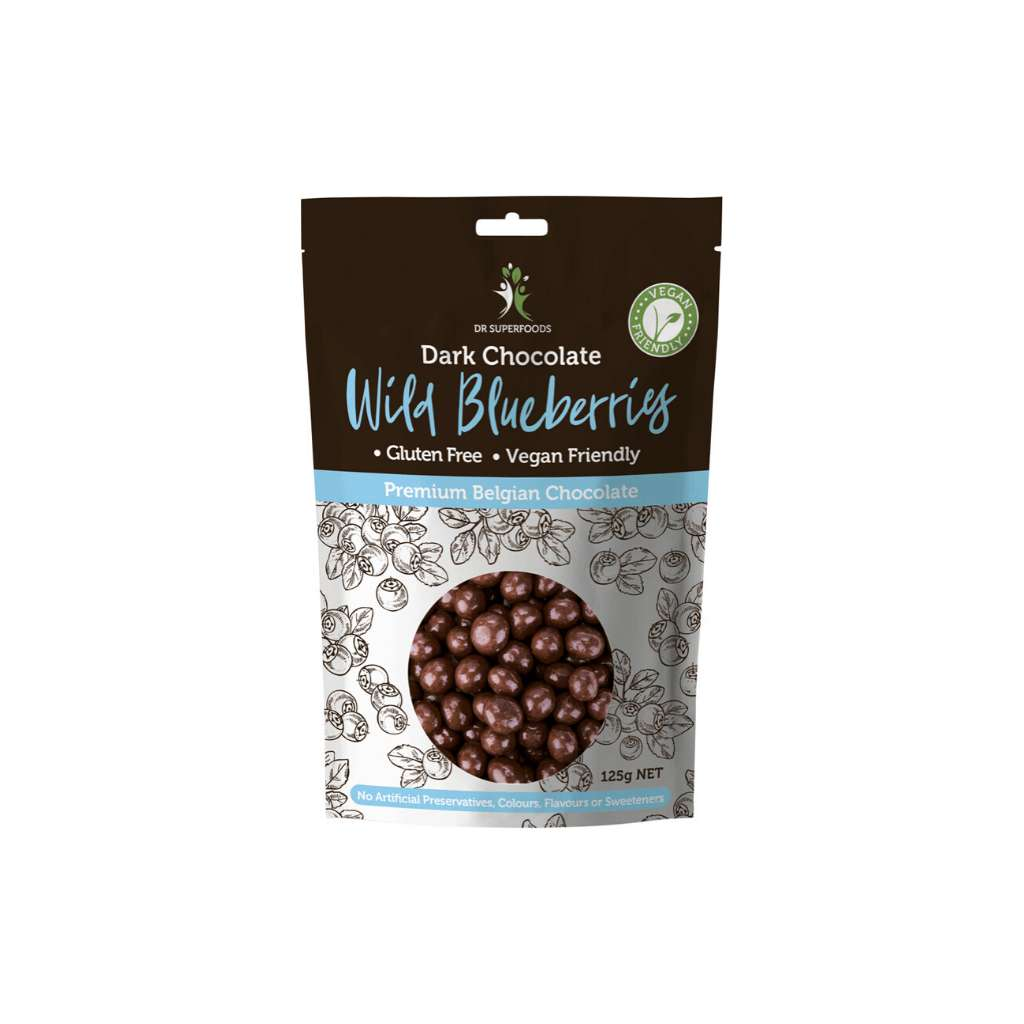 Dr Superfoods Organic Dark Chocolate Wild Blueberries 125g
