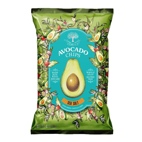 Temole Avocado Chips 12 x 40g Pack Sea Salt