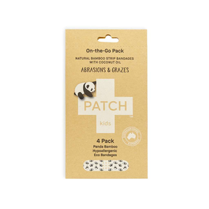 PATCH Organics Natural Bamboo Strip Bandages with Coconut Oil
