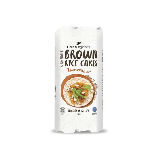 Ceres Organics Brown Rice Cakes Tamari 6x 110g - GoodnessMe