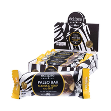 Load image into Gallery viewer, Eclipse Organics Raw Paleo Bar Manuka, Nut & Hemp 12x 45g