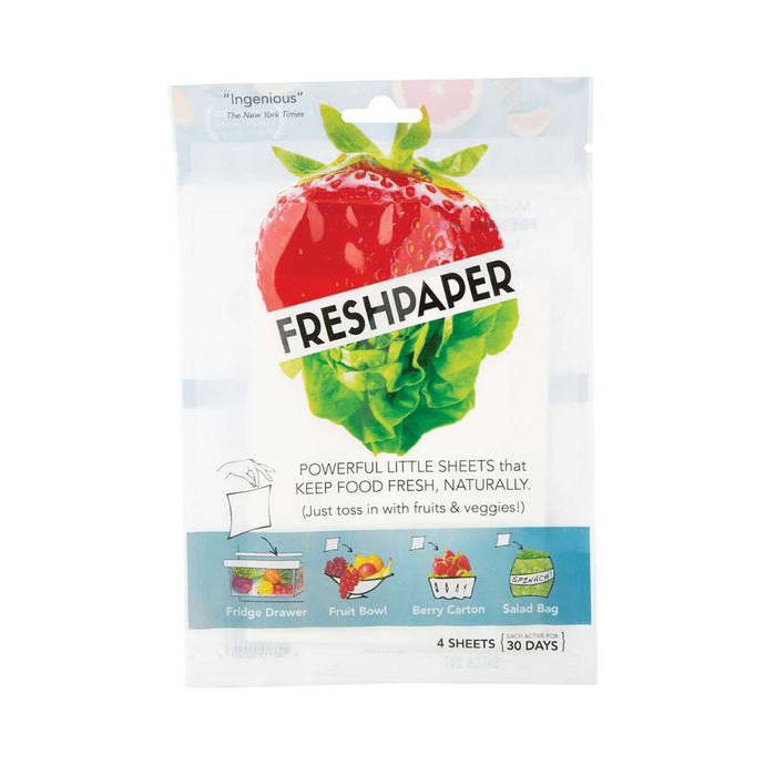 Freshpaper Natural Food Saver Sheets - Produce 4 pack - GoodnessMe