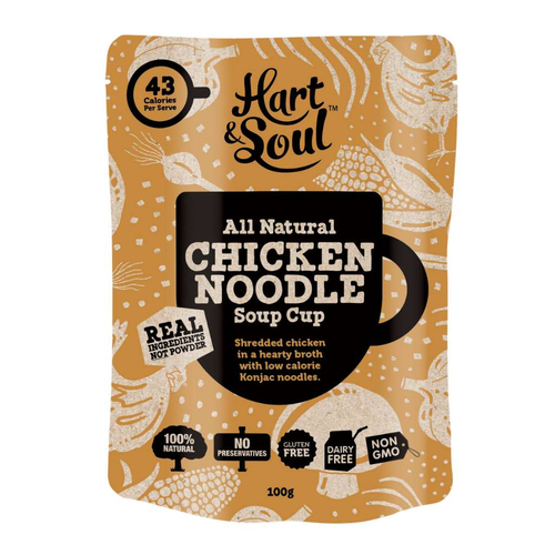 Hart & Soul Chicken Noodle Soup Cup - GoodnessMe