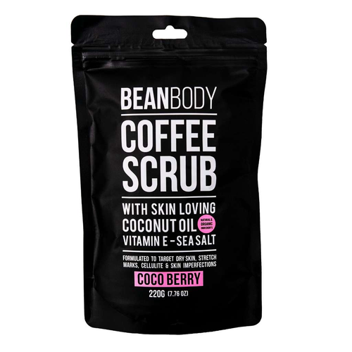 Bean Body Care Coco Berry Coffee Scrub 220g - GoodnessMe
