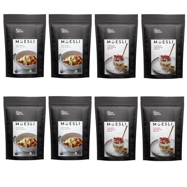 Vivien and Alisha Mixed Muesli 8 x 50g Sample Bundle