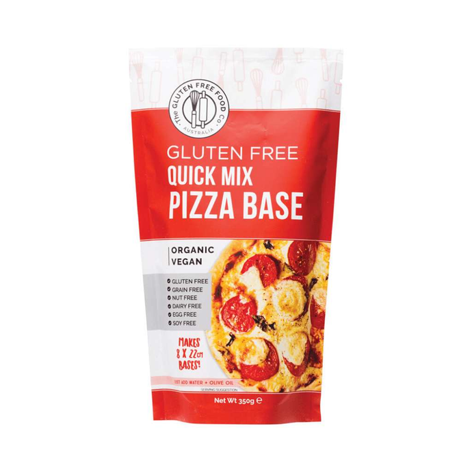 The Gluten Free Food Co Quick Pizza Base Mix 350g - GoodnessMe