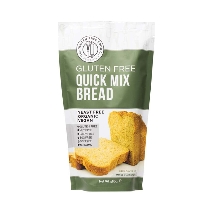 The Gluten Free Food Co Quick Bread Mix 480g - GoodnessMe