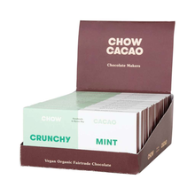 Load image into Gallery viewer, Chow Cacao Vegan Organic Chocolate	Crunchy Mint 5x 40g
