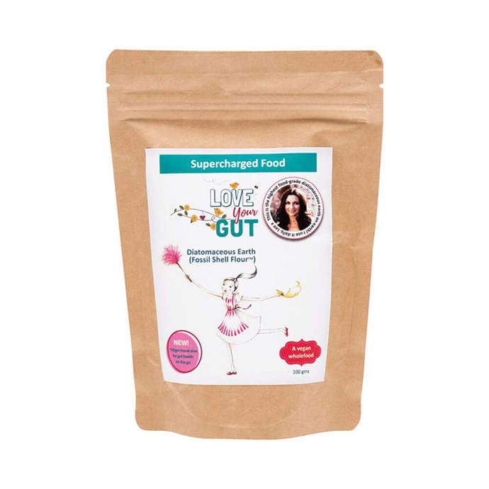 Supercharged Food Love Your Gut Powder - Diatomaceous Earth 100g - GoodnessMe