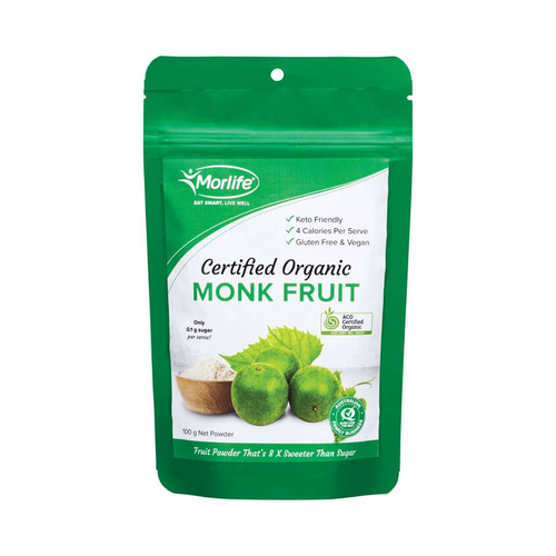 Morlife Certified Organic Monkfruit 100g - GoodnessMe