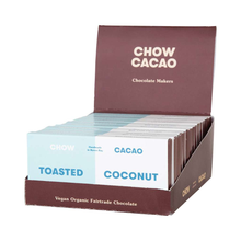 Load image into Gallery viewer, Chow Cacao Vegan Organic Chocolate	Toasted Coconut 5x 40g