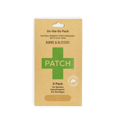 PATCH Organics Natural Bamboo Strip Bandages with Aloe Vera - GoodnessMe