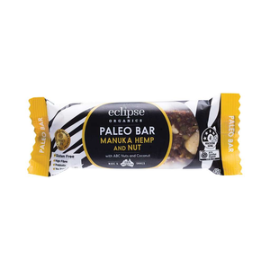 Eclipse Organics Raw Paleo Bar Manuka, Nut & Hemp 12x 45g