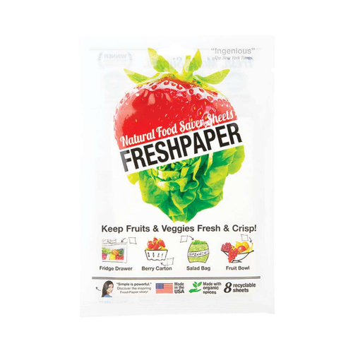 Freshpaper Natural Food Saver Sheets - Produce 8 pack - GoodnessMe