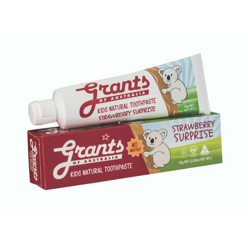 Grants of Australia 	Kids Natural Toothpaste - Strawberry Surprise - GoodnessMe