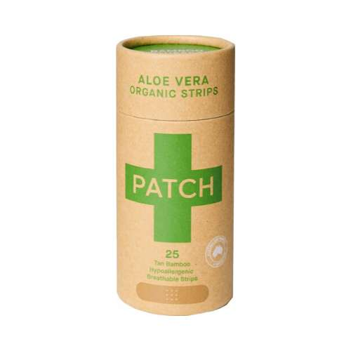 Patch Adhesive Bamboo Bandages Aloe Vera - Burns & Blisters 25 pack