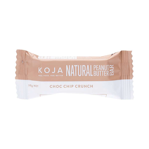 Koja Natural Peanut Butter Bar Choc Chip Crunch 30g - GoodnessMe