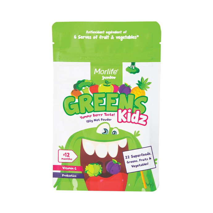 Morlife Greens Kidz 150g - GoodnessMe