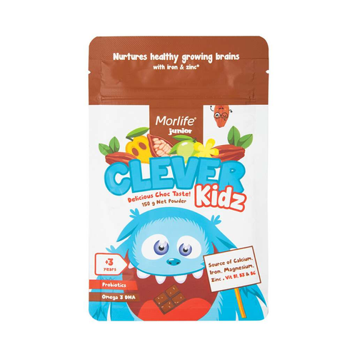 Morlife Clever Kidz Delicious Choc 150g - GoodnessMe