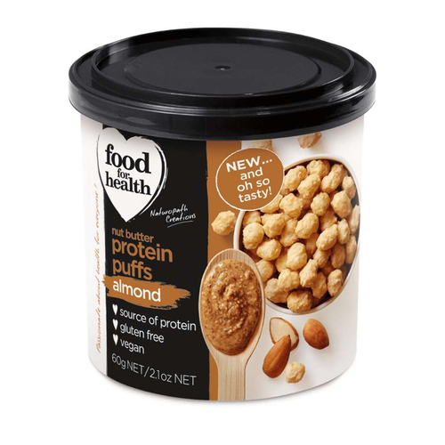 Food for Health Nut Butter Protein Puffs Almond Flavour - GoodnessMe