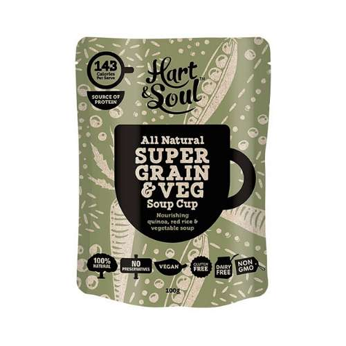 Hart & Soul Soup Cup Super Grain & Vegetable 6x 100g