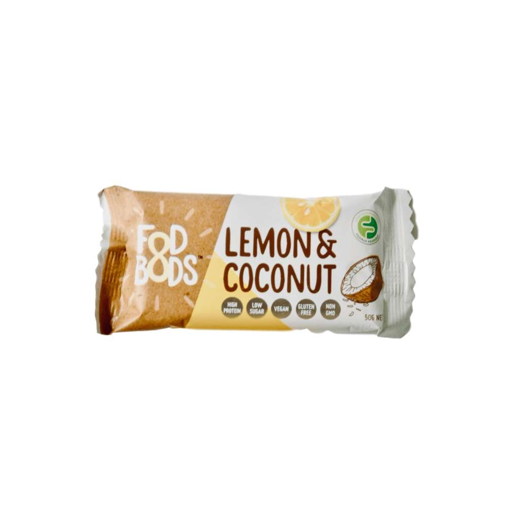 Fodbods Lemon Coconut 10 x 50g Bars