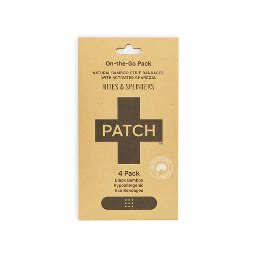 PATCH Organics Natural Bamboo Strip Bandages with Activated Charcoal - GoodnessMe