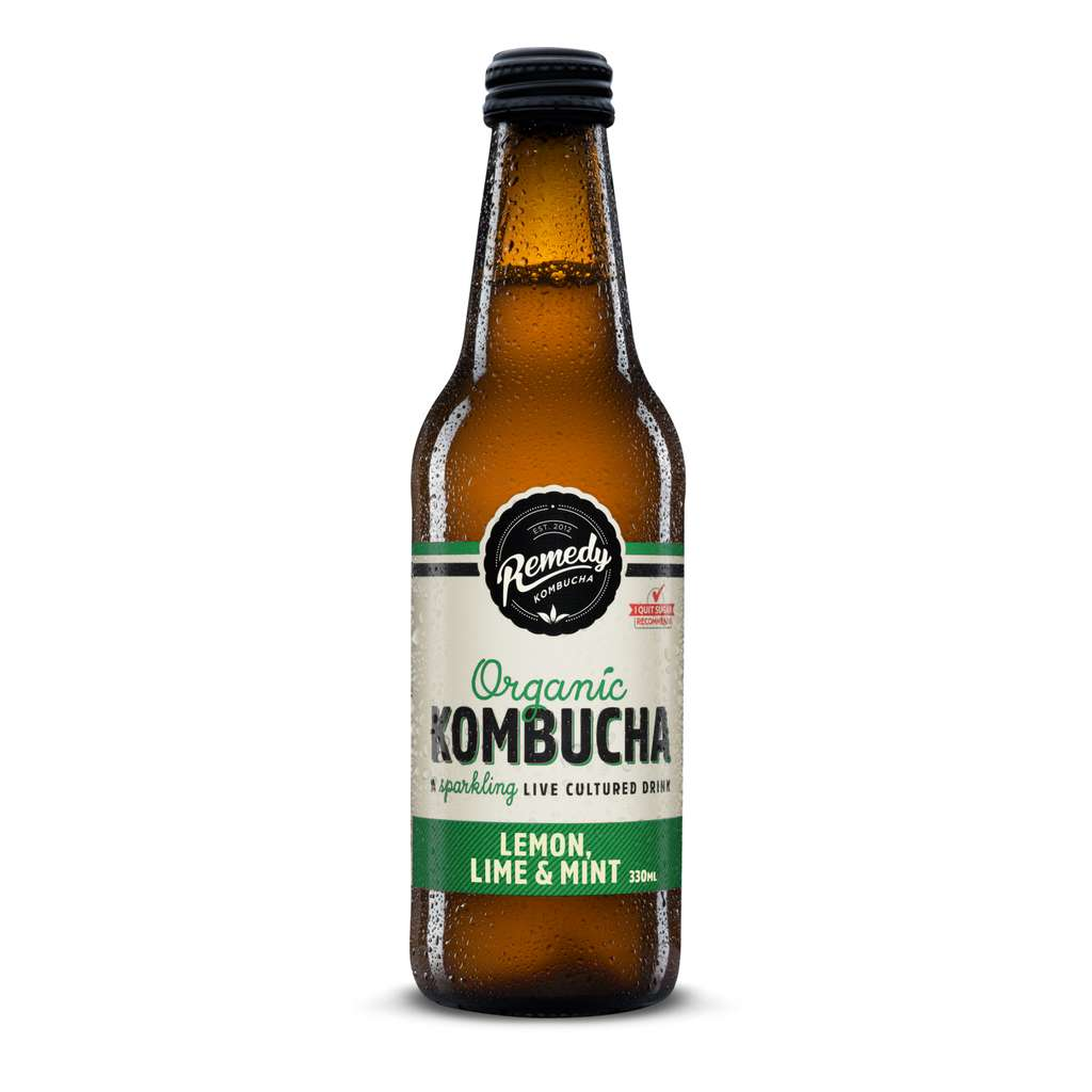 Remedy Drinks - Lemon Lime & Mint Kombucha 330ml