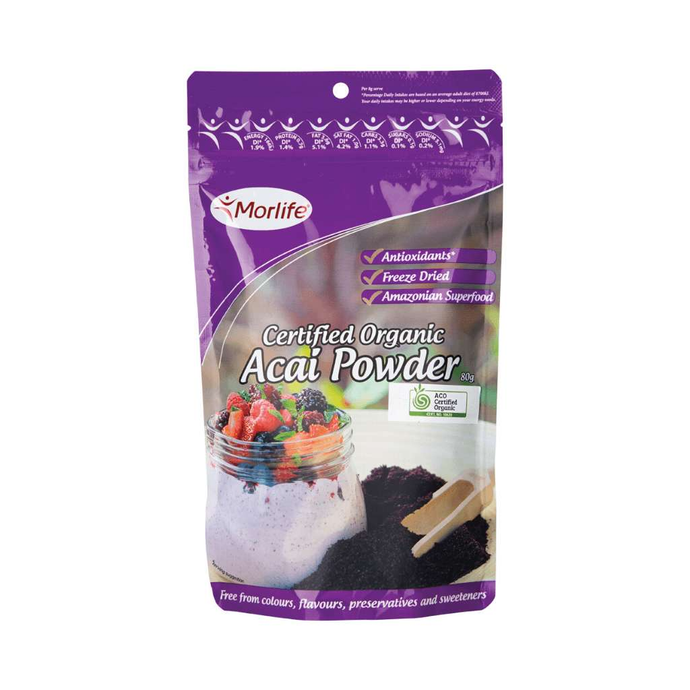 Morlife Certified Organic Acai Powder 80g
