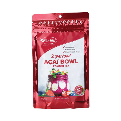 Morlife Acai Bowl Powder Mix 80g - GoodnessMe