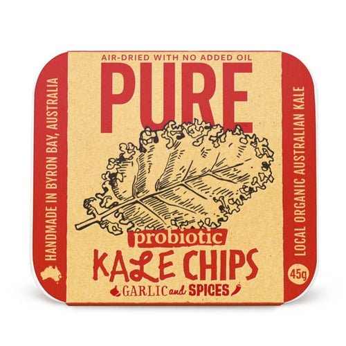Extraordinary Foods Pure Kale Chips Garlic And Spices 45g - GoodnessMe