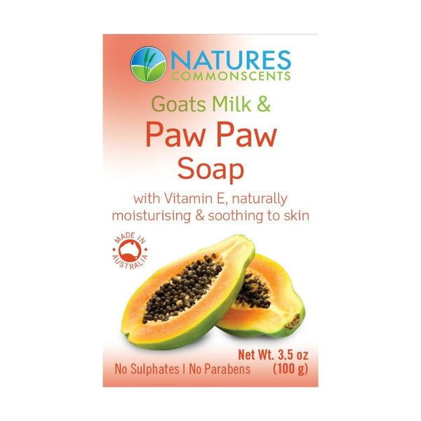 Natures Commonscents Goats Milk & Paw Paw Soap 100g