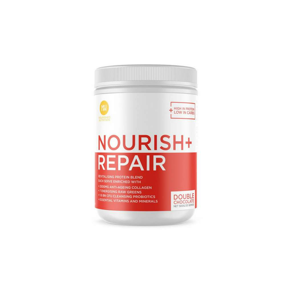 Nourished Nutrition - Nourish + Repair Revitalising Blend Double Chocolate 500g