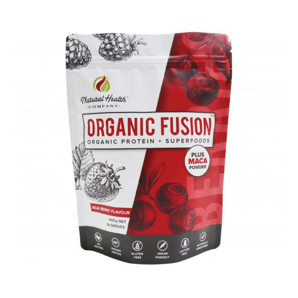 Natural Health Company - Organic Fusion Protein + Superfoods Acai Berry 400g