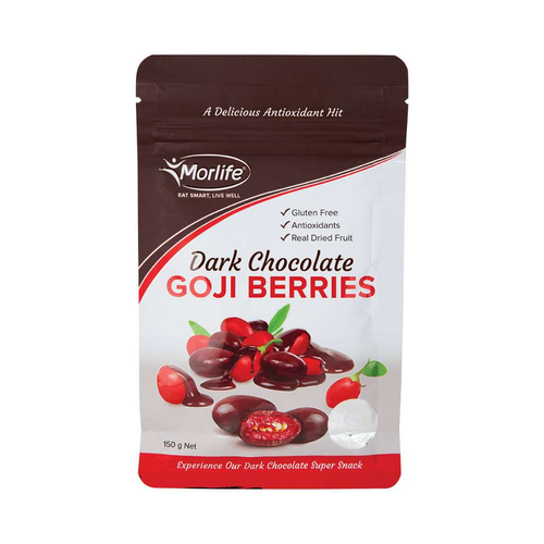 Morlife Dark Chocolate Goji Berries 150g - GoodnessMe