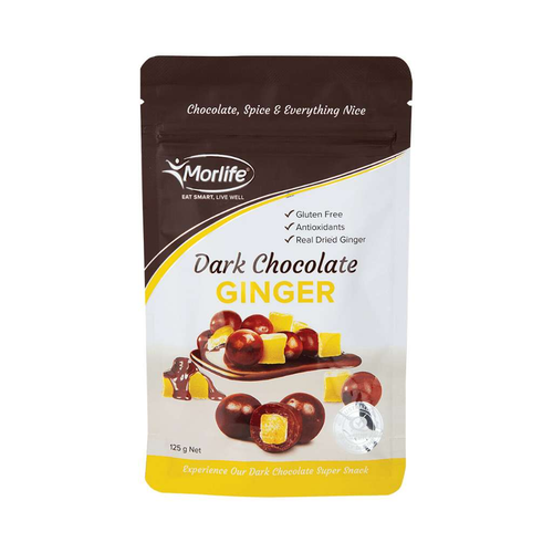 Morlife Dark Chocolate Ginger 125g - GoodnessMe