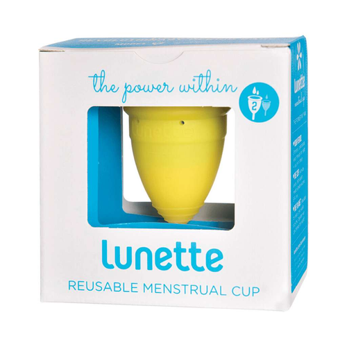 Lunette Reusable Menstrual Cup - Yellow  (Normal to Heavy Flow) - GoodnessMe
