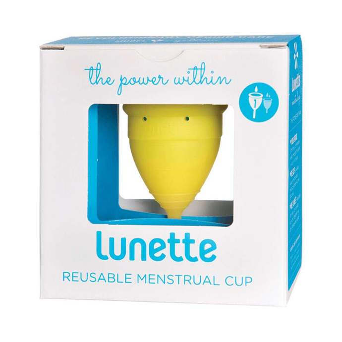 Lunette Reusable Menstrual Cup - Yellow  (Light To Normal Flow) - GoodnessMe