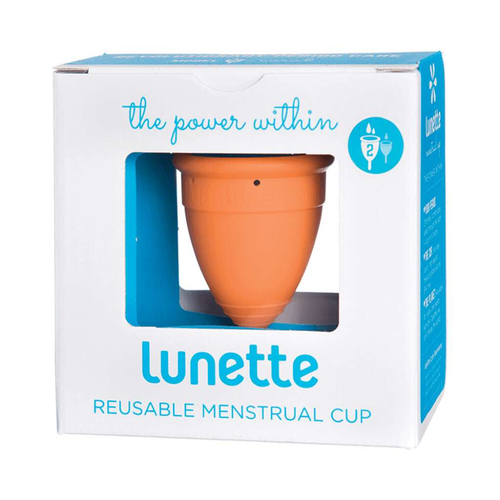 Lunette Reusable Menstrual Cup - Orange  (Normal to Heavy Flow) - GoodnessMe