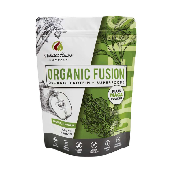 Natural Health Company - Organic Fushion Protein + Tropical Flavour 400g