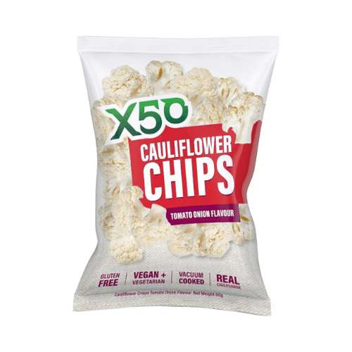 X50 Cauliflower Chips Tomato 5x 60g - GoodnessMe